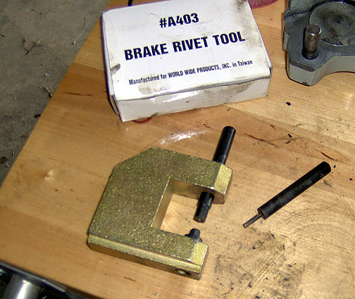 Brake Pad Rivets : Annual condition inspection page